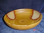 Click here to enlarge image and see more about item 5720: Sango Splash Brown Serving Bowl