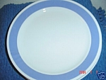 Click here to enlarge image and see more about item 4708: Corelle Solid Blue Dinner Plates