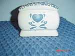 Corelle Blue Hearts Napkin Holders