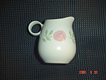 Click here to enlarge image and see more about item 4792: Metlox Veron Ware Rose-A-Day Creamer