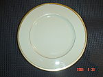 Click here to enlarge image and see more about item 4811: Lenox Gold Trimmed Tuxedo Dinner Plate - Mint