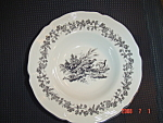 Click here to enlarge image and see more about item 4826: Tabletops Unlimited New England Toile Bowl - Pheasant