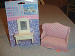 Click here to enlarge image and see more about item 10167: Doll House Furniture - Vanity and Love Seat