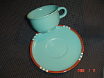 Dansk Mesa Turquoise Cups and Saucers - Japan