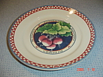 Click here to enlarge image and see more about item 5035: Susan Winget Radish Dinner Plate