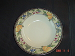 Click here to enlarge image and see more about item 5366: Mikasa Garden Harvest Rimmed Soup Bowls
