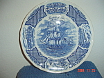 Click here to enlarge image and see more about item 585: Alfred Meakin Fair Winds Fairwinds Dinner Plates - BLUE