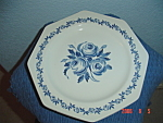 Click here to enlarge image and see more about item 596: J. G. Meakin Blue Flower Octagon Plates
