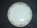 Click here to enlarge image and see more about item 59: Haviland France Limoges Salad Plates - Yellow Edge