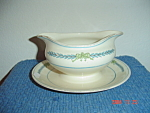 Click here to enlarge image and see more about item 600: Myott Athens Gravy Boat w/Attached Tray
