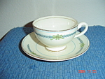 Click here to enlarge image and see more about item 603: Myott Athens Footed Cup and Saucer
