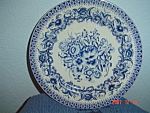 Click here to enlarge image and see more about item 672: The Bombay Company China Decorator Plate #3