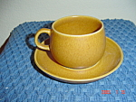 Denby Rams Head Golden Brown/Canterbury Cups-Saucers