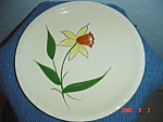 Click here to enlarge image and see more about item 882: Blue Ridge Daffodil Pattern Salad Plate