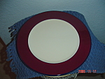 Click here to enlarge image and see more about item 890: Pagnossin Burgundy/white/Navy Salad Plates