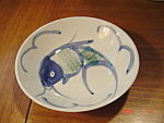Click here to enlarge image and see more about item 902: Canton Express Double Happiness Fish Bowls/Plates