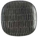 Click here to enlarge image and see more about item 9370: Calvin Klein Khaki Collection Graffiti Charcoal Salad Plates