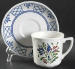 Click here to enlarge image and see more about item 9395: Johnson Bros Provincial Cups and Saucers
