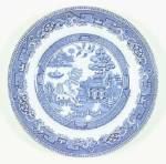 Click here to enlarge image and see more about item LS1: Alfred Meakin Old Willow Dinner Plates