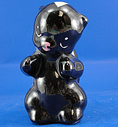 1940s/1950s Pottery Skunk (Image1)