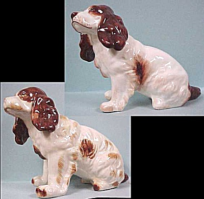 Two Sitting Spaniels (Image1)