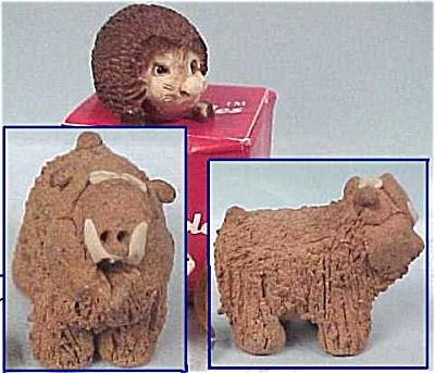 Two Miniatures - Boar & Hedgehog (Image1)