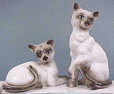Homco Siamese Cat Pair