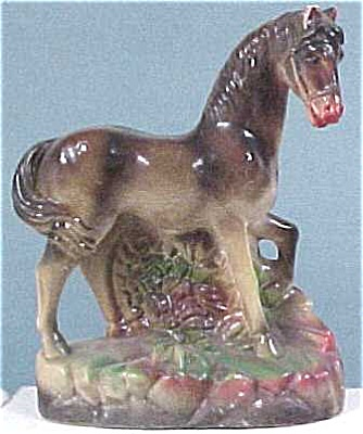 Old Chalkware Horse Figurine (Image1)