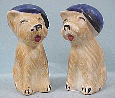 Occupied Japan Terrier Dogs S/p