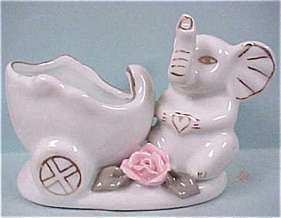 White Elephant With Buggy Pin Dish