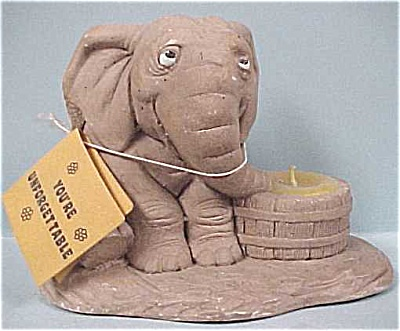 1974 Wallace Berrie Elephant Candle Holder (Image1)