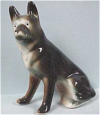1940s/1950s Pottery German Shepherd Dog