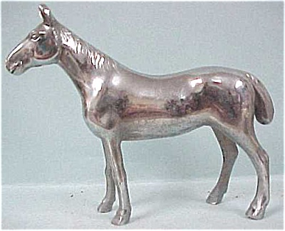 Chromed Metal Horse Figure