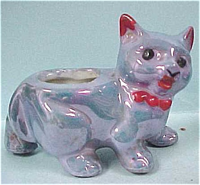 1940s Miniature Lusterware Cat Toothpick (Image1)