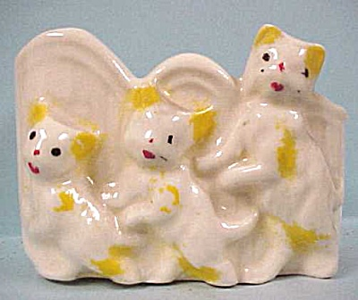 1930s/1940s Pottery Cats Planter