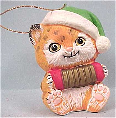 Enesco Santa Cat Ornament