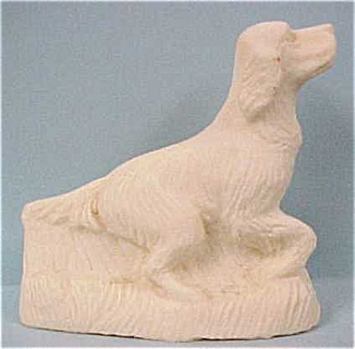 1930s/1940s Stone Dust Resin Setter Dog (Image1)