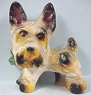 1940s Carnival Chalkware Terrier Dog (Image1)