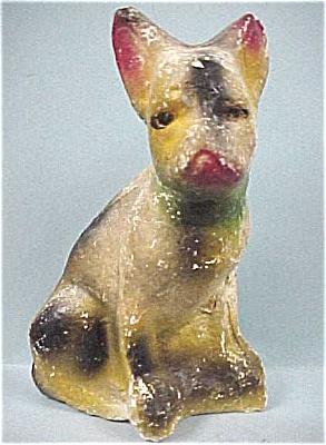 1930s/1940s Carnival Chalkware Bull Terrier (Image1)