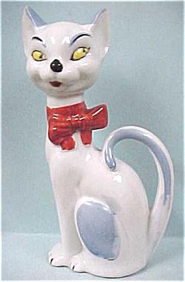 1930s Japan Porcelain Sitting Cat (Image1)