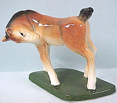 1940s Japan Ceramic Foal on Base (Image1)