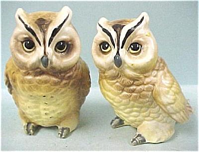 1960s Norcrest Ceramic Owl Pair (Image1)