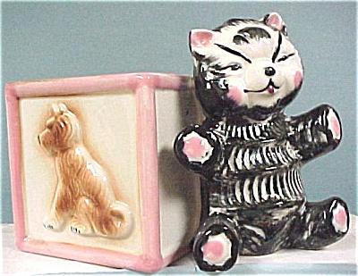 1960s Japan Ceramic Teddy Bear Planter (Image1)