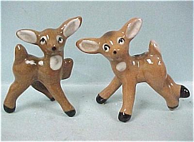 1950s Miniature Pottery Deer Pair (Image1)