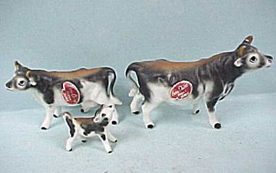 Napco Miniature Cow Family