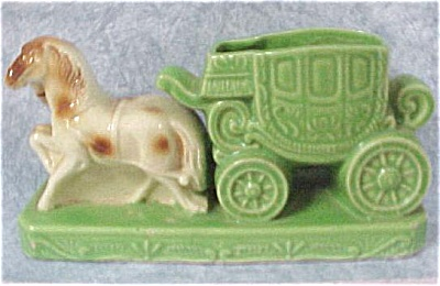 Japan Pottery Horses With Coach Planter (Image1)