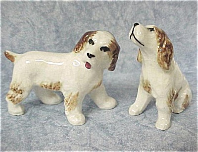 1950s Pottery Miniature Spaniel Dog Pair (Image1)