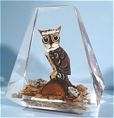Wood Owl in Acrylic (Image1)