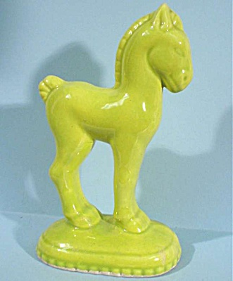 1930s/1940s Pottery Pony On Base