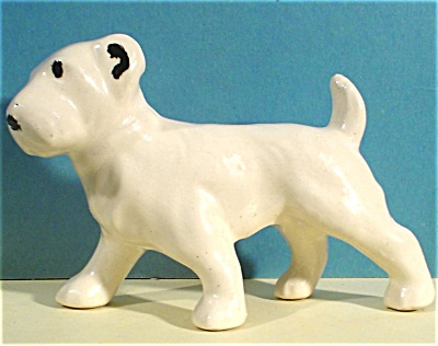 1940s Pottery Terrier Dog (Image1)